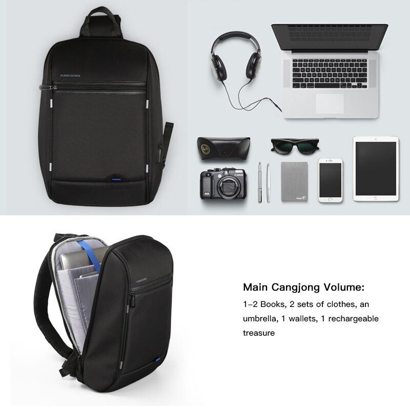 Image 4 - Kingsons 13.3 inch Anti theft USB Charging Messenger Chest Bag  Wateproof Single Shoulder Laptop Backpack for Men Womenlaptop  backpack13.3 inchbackpack for laptop