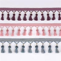 Lace Beads Strawberry Tassel Fringe Hanging Ball Trim Craft Braided Bead Ribbon Trimming Sewing Supplies For
