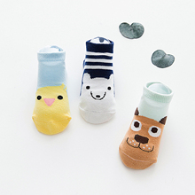 3 Pair/lot Cartoon Animal Cotton Baby Socks For Kid Boys Girls Short Ankle Socks Summer Style