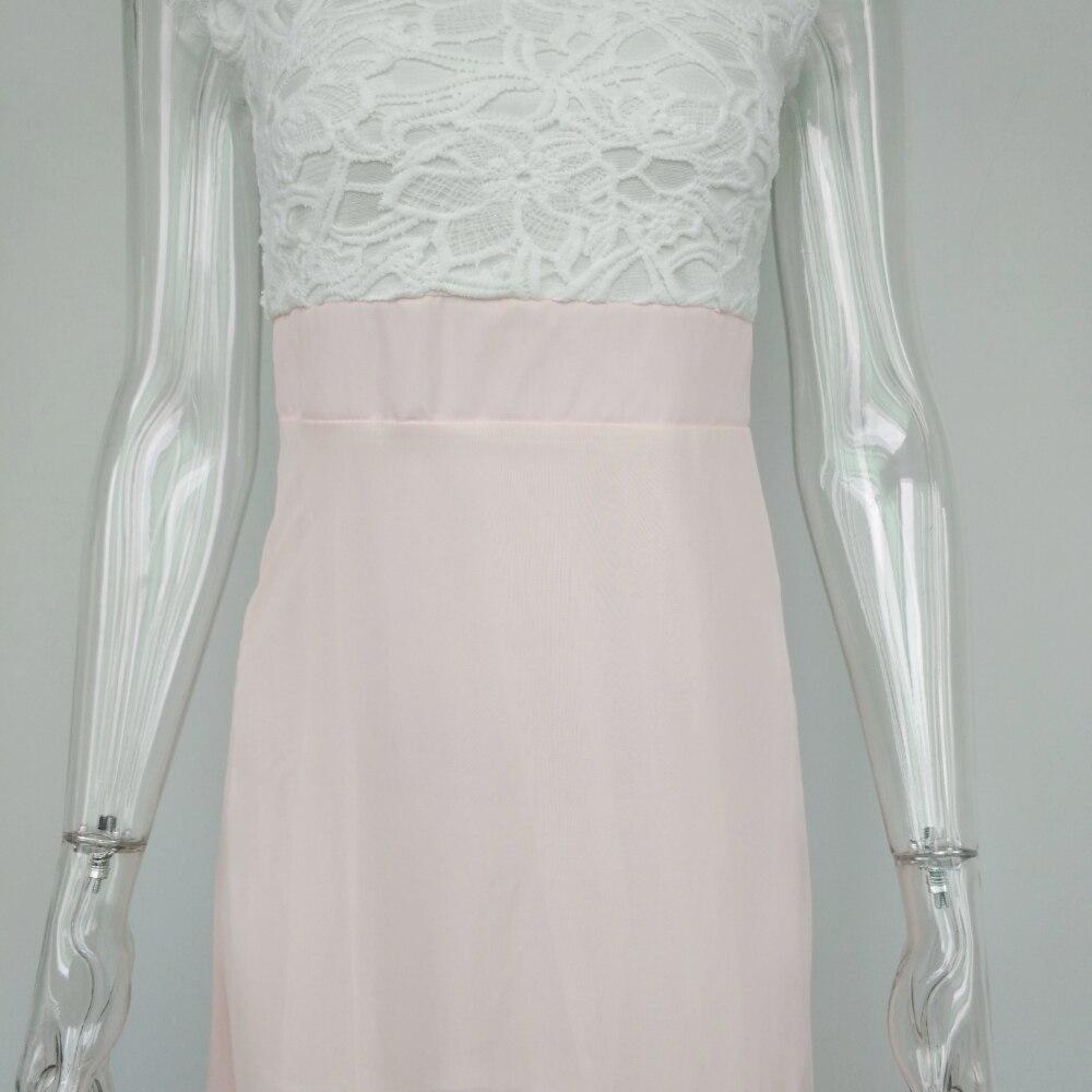 2018 Elegant Flower Maxi Lace Dress 4