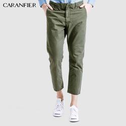 CARANFIER 2017 Для мужчин ботильоны-Длина брюки хлопок Повседневное модные мужские брюки Армейский зеленый зрелые военно-тактические штаны-карго