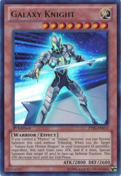 ZTIN-EN012 Galaxy Knight Ultra Rare 1st Edition Mint YuGiOh Card