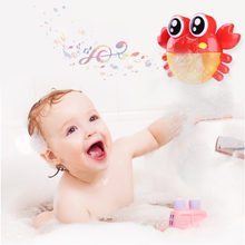 Baby Bath Toy Crab Bubble Maker Shower Bubble Spraying Toy Child Funny Bath Dabbling Tool Shower Soap Machine Bathroom Toys(China)