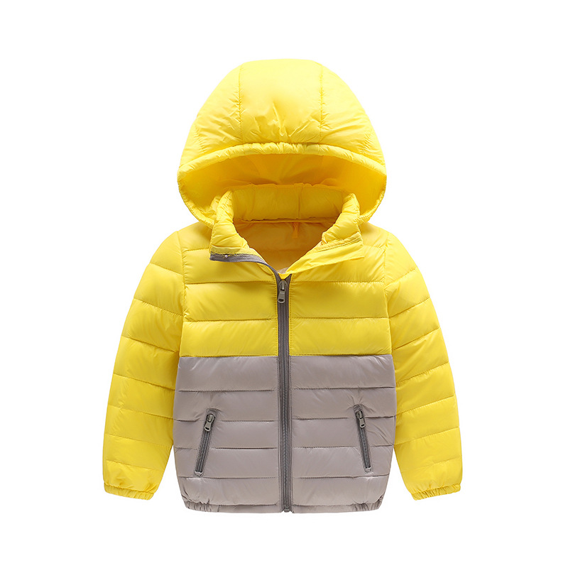 Boy and Girl Warm Down Kids Light Down Jacket High quality White duck down Kids  Zipper Coat Child Outerwear Clothes 4-12Years