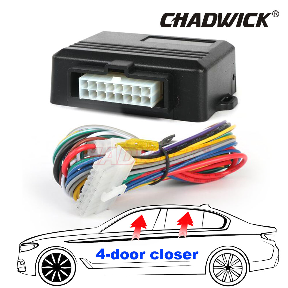 цена на Car Alarm Systems Universal Car Power Window Roll Up Closer For 4 Doors Auto Close Windows Car AlarmS Module security CHADWICK