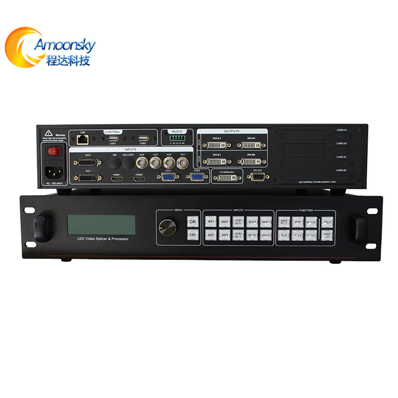 amoonsky sc358 4k video processor control two led wall led screen video wall display splicing processoramoonsky sc358 4k video processor control two led wall led screen video wall display splicing processor