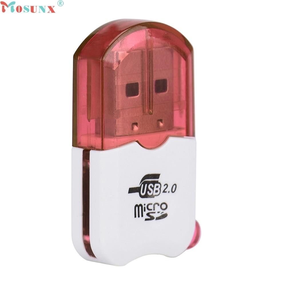 Mosunx preço de fábrica alta velocidade mini usb 2.0, micro sd tf t-flash, leitor de cartão de memória, adaptador, 0224, drop shipping