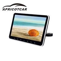 10,1 дюймов HD экран плагин MP5 автомобиля подголовник автомобиля мониторов видеоплеерам Поддержка нескольких языков USB SD HDMI FM AM
