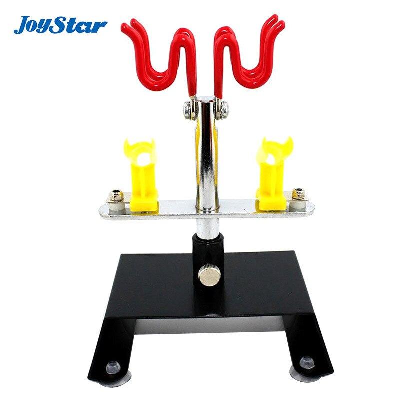 ABEST Neue 2 + 2 Airbrush halter clamp-auf tischbefestigung Hobby Stehen AB-H2