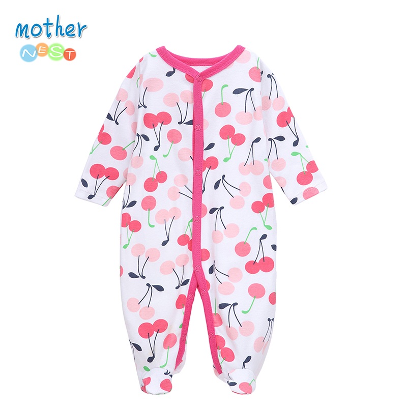Mother Nest 2017 Winter Baby Rompers Clothes Newborn Boy Girl 100% Cotton Long Sleeves Baby Jumpsuit Clothing Baby Products mother nest newly 2016 long sleeve baby clothing baby boy girl wear pink polka dot newborn baby overall clothes baby rompers