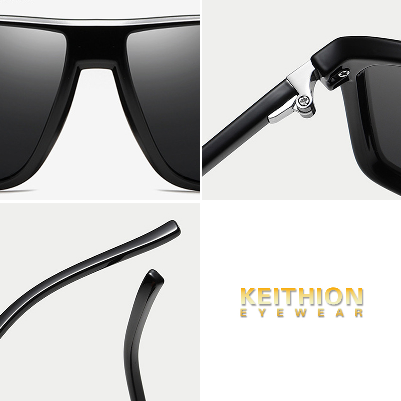 KEITHION Fashion Polarized Square Sunglasses Men Driving Sun Glasses For Men Brand Design High Quality Mirror Eyewear Male Women in Men 39 s Sunglasses from Apparel Accessories