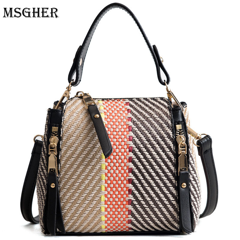 M.S Straw Bags for Women Messenger Bag Woven Beach Summer Handbags Designer Handle Bags Women Crossbody Bag sac femme WB560