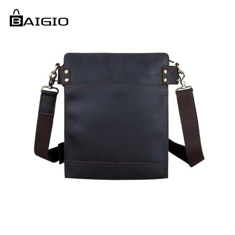 Baigio Men Vintage Bag Fashion Genuine Leather Casual Crossbody Bags Designer Messenger Shoulder Satchel Handbags On Aliexpress Alibaba Group