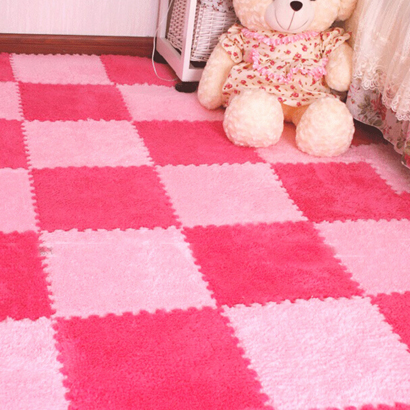 Long Fur Hair Puzzle Eva Foam Floor Mat Pad Baby Crawling Cutting Area Rug  Play Carpet For Child With Edage 10pcs 30*30cm In Play Mats From Toys U0026  Hobbies ...