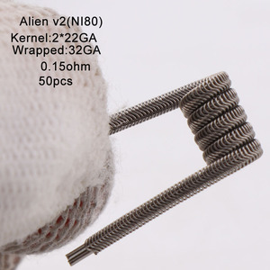 Image 3 - XFKM Ni80/A1/SS316 الغريبة v2 لفائف ل RDA تانك بخاخ RTA سيجارة إلكترونية أكسسوار القلم 100 قطعة/صندوق الغريبة V2 لفائف
