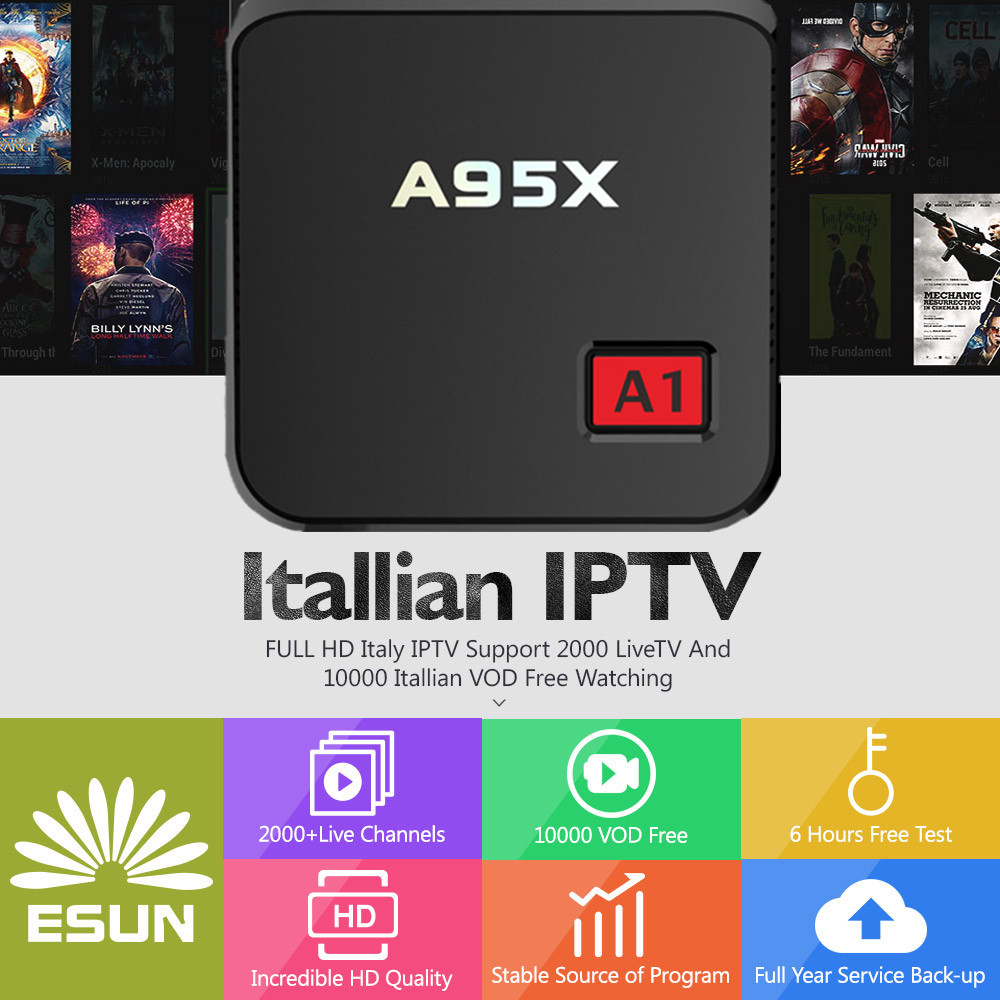 Italy IPTV 1 Year Included NEXBOX A95X A1 Android TV Italy IPTV EPG 4000+Live+VOD configured Europe Albania ex-yu XXX channe a95x pro voice control with 1 year italy iptv box 2g 16g italy iptv epg 4000 live vod configured europe albania ex yu xxx