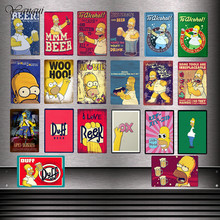 Duff Beer To Alcohol Customized Metal Signs Poster Eat More Donuts Wall Sticker Vintage Home Decorations YQZ080(China)