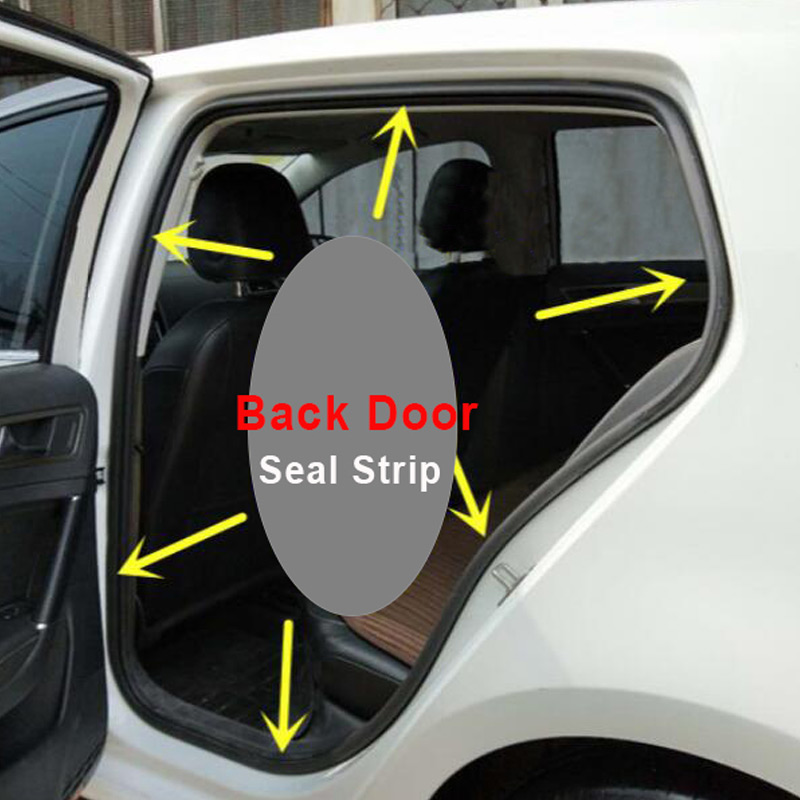 car Strip Inner Front Door Seal Rubber For VW Polo 2005 2006-in Auto Seals from Automobiles & Motorcycles    3