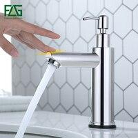 FLG Smart Touch Basin Faucets New Design Touch Sensor Sensitive Bathroom Faucet Touch Control Tap With Soap Dispenser