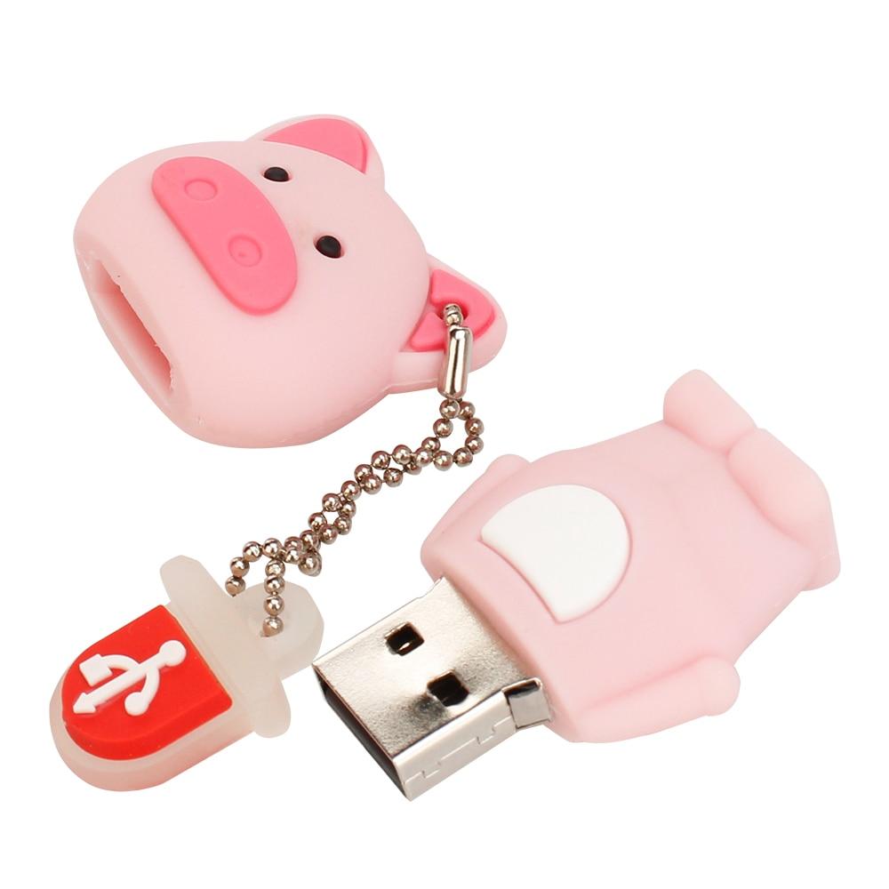 Pen Drive 32gb Cartoon Pink PigMonkeyElephantKoala Usb Flash Drive 64gb 128gb 16gb 8gb 4gb Pendrive Best Gift Free Shipping (6)