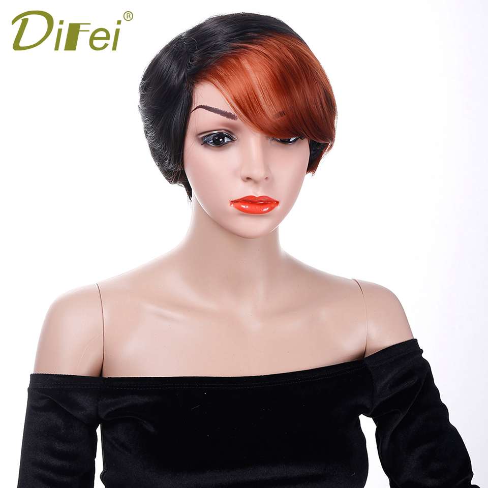 DIFEI Short Synthetic Hair Synthetic Cospaly Wig High Temperature Fiber Wig Halloween Party Wig for Women