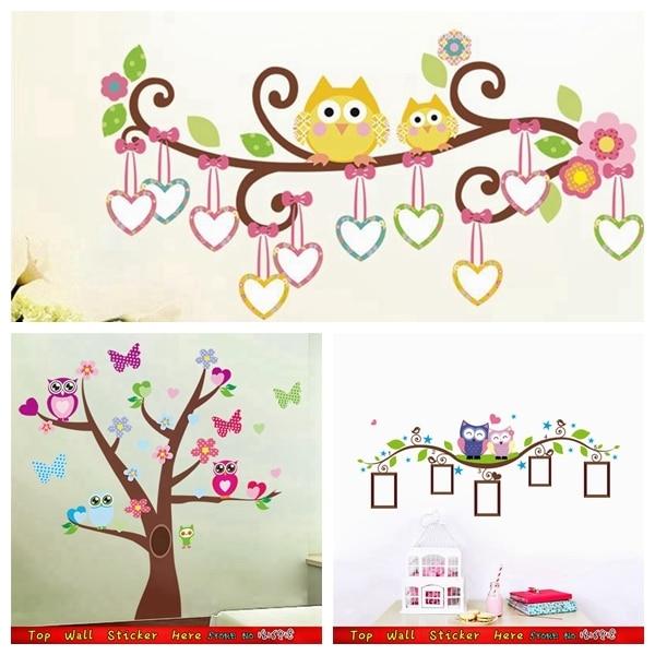 Decorazioni pareti per bambini excellent gufi disegni con - Disegni per parete ...