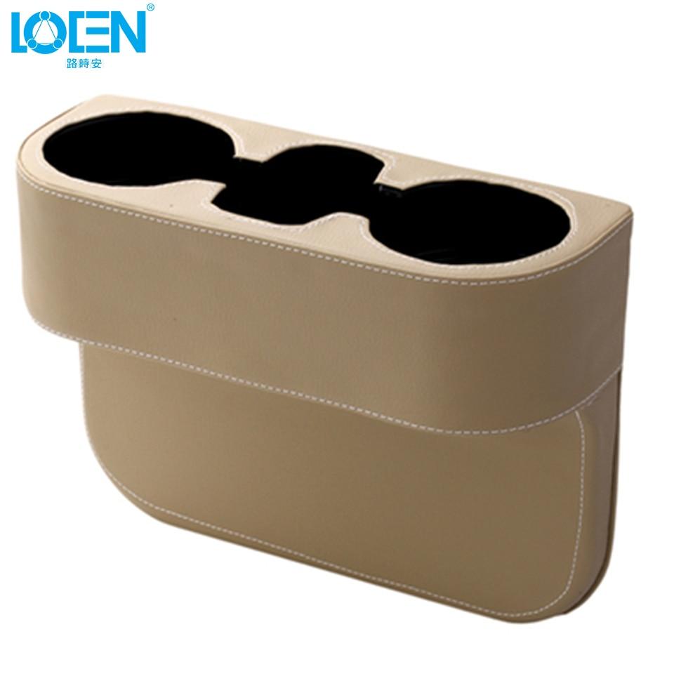 LOEN 상자 PU 가죽 휴대용 시좌 간격 컵 시가렛에 대한 - 자동차 인테리어 용 액세서리 - 사진 5