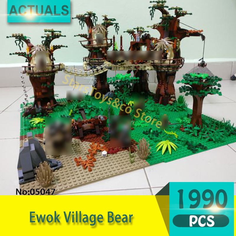05047 1990Pcs Forest village Model Building Blocks Set  Bricks toys For Children Gift 10236  Star Series Wars Compatible 10236 dhl fast shipping 1990pcs lepin 05047 ucs ewok village building blocks juguete para construir bricks toys compatible 10236