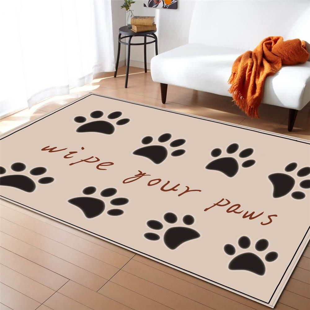 Cute Cat Paw Print Carpets Children