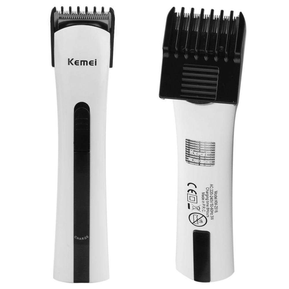 AC 220-240V Uppladdningsbara Professionella Kemei-män Elektriska rakapparat Razor Skägg Hair Clipper Trimmer Grooming rakapparat EU-kontakt