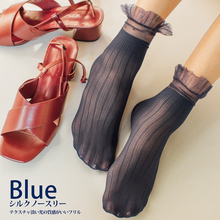 SP&CITY Spring New Transparent Women Short Socks Japan Style Hollow Out Summer Thin Ankle Ruffle Sexy Black Sock Female
