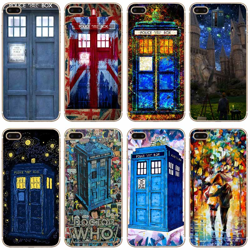 Hearty H389 Wolf Doctor Telephone Booth Transparent Hard Thin Case Cover For Apple Iphone Xr Xs Max 4 4s 5 5s Se 5c 6 6s 7 8 X Plus Phone Bags & Cases