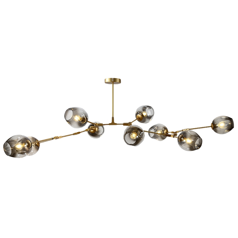 Bdbqbl Nordic Glass Chandelier Lighting Molecular Bubble Ball Branch Lampadari Ac 90-260v Lindsey Adelman Led Bedroom Droplight Lovely Luster