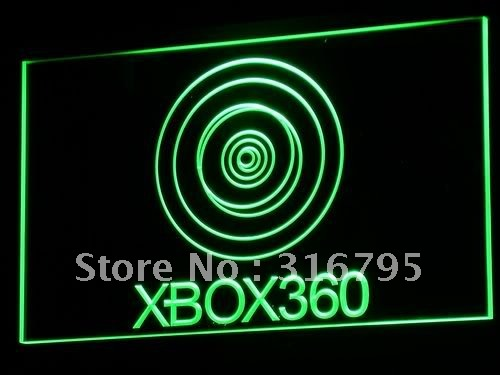 e015 XBOX 360 LED Neon Sign with On/Off Switch 20+ Colors 5 Sizes to choose