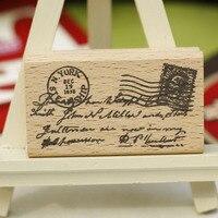 באיכות גבוהה stempel מכתב בציר חותמת רעיונות diy גלויה או סימנייה, חותמות גומי עץ carimbos יפהיפה