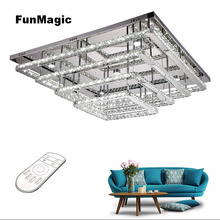 Post-modern 4 Layers Diamond Crystal Rings LED Ceiling Lights Dimming Living Room Bedroom Liighting Fixture Dining Lamp