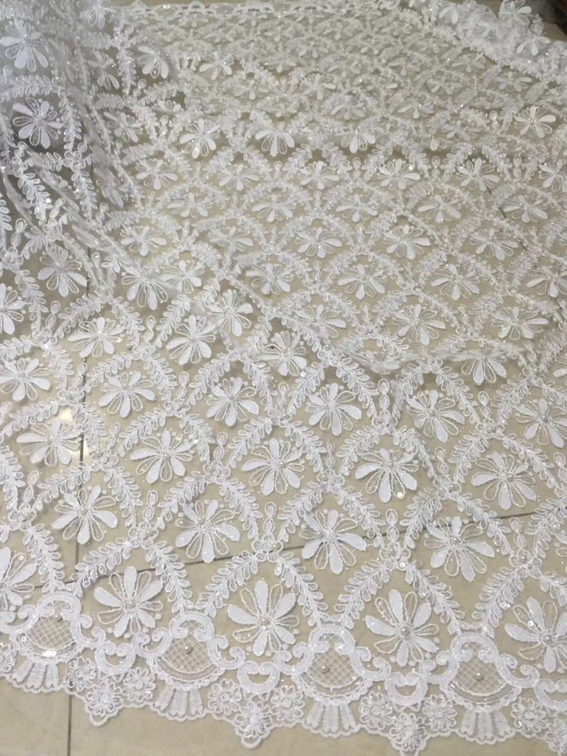 (5yards/pc) high quality African wedding lace fabric sequins and beads fixed French net lace with embroidery for dress  FLC59(5yards/pc) high quality African wedding lace fabric sequins and beads fixed French net lace with embroidery for dress  FLC59
