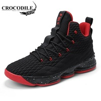 CROCODILE Big Size Lovers Basketball Shoes Men New Arrival High Top Cushioning Original Basketball Sneakers Women Outdoor Mens