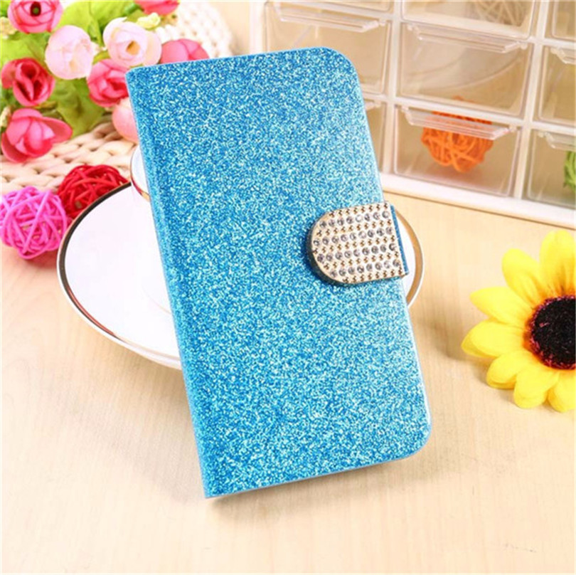 Fashion Bling Glitter Flip Case Cover For LG X Cam K580 K580DS 5.2 inch Mobile Phone Case With Card Slot