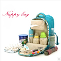 Saco de fraldas do bebê mochila Flora ou dot saco De Carrinho de Criança à prova d' água Fralda mudando saco de maternidade para a Mãe de viagem ao ar livre mochila