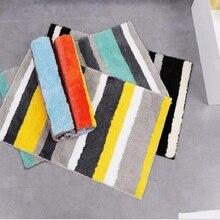 Topfinel 깔개 목욕 매트 Quatrefoil 스트라이프 Antiskid 소프트 카펫 매트 욕실 주방 거실 키즈 룸 현대 층 매트