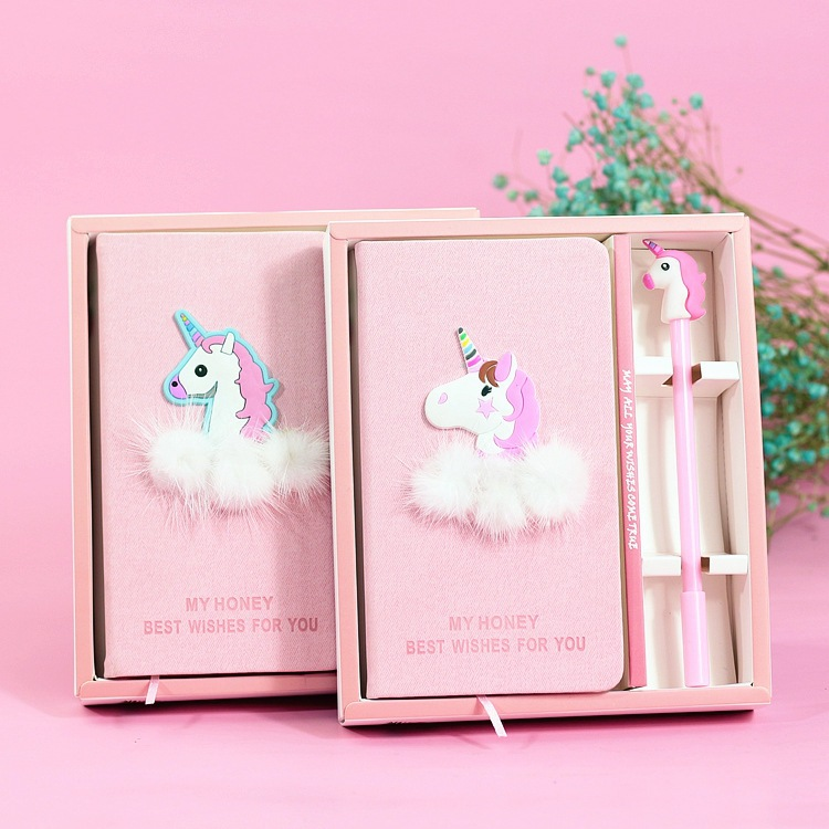 Unicorn Notebook Quality Note Book With Pen Set Diary Day Planner Kawaii Journal Stationery School Supplies Study Gift Tools недорго, оригинальная цена
