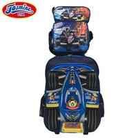 JASMINESTAR 3PCS Boys Wheeled Bag School Trolley Backpack 3D Cartoon Rocket Race Car Grade 1 3 6 Kids School Bags For Boy