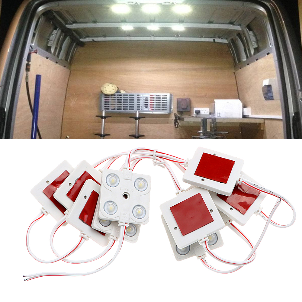 Auto Dome Roof Light For SUV RV Van Boat Trailer Car Interior Lighting 12V 10x4 LED Lamp Car Reading Light Kit Car Styling White r410a van roof mounted air conditioner horizontal compressor