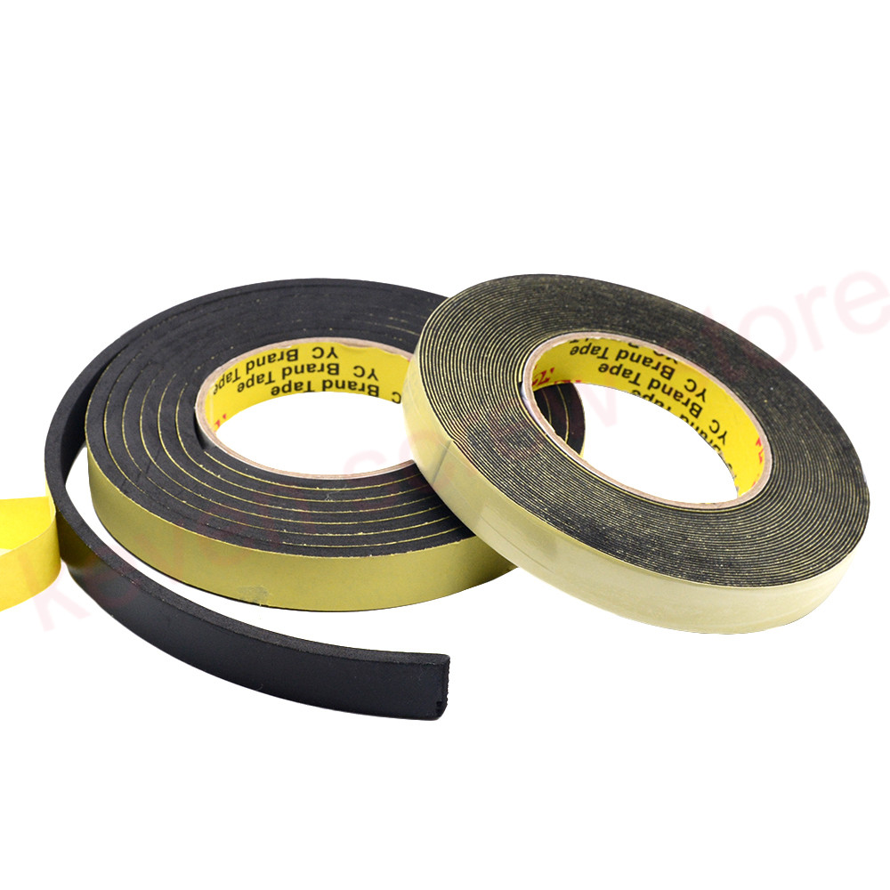 5m X 8mmx 1mm/3mm Single Sided Adhesive Waterproof Weather Stripping Foam Sponge Rubber Strip Tape For Window Door Seal Strip