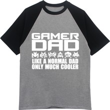 Ayah Ayah Hari Playstation Gamer PC Lucu Mens T-Shirt Musim Panas O-neck T Shirt Katun Kasual Top Tee Streetwear Lengan Raglan(China)