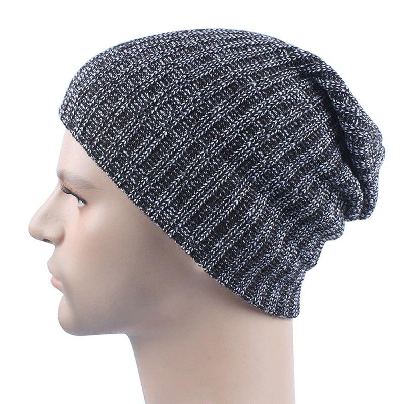 Unisex Women Men Knit Skullies Beanies solid Winter Warm Oversize Ski Cap Hat skullies