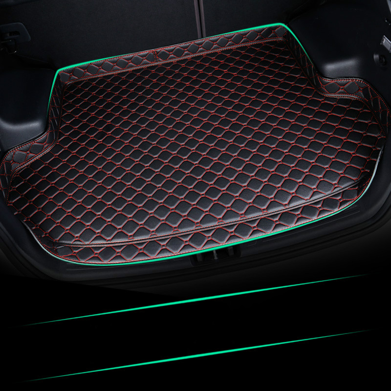 Custom No Odor Waterproof Non Slip Boot Carpet Car Trunk Mat for <font><b>Hyundai</b></font> IX35 Elantra Sonata Tucson <font><b>Santa</b></font> <font><b>Fe</b></font> Veloster image