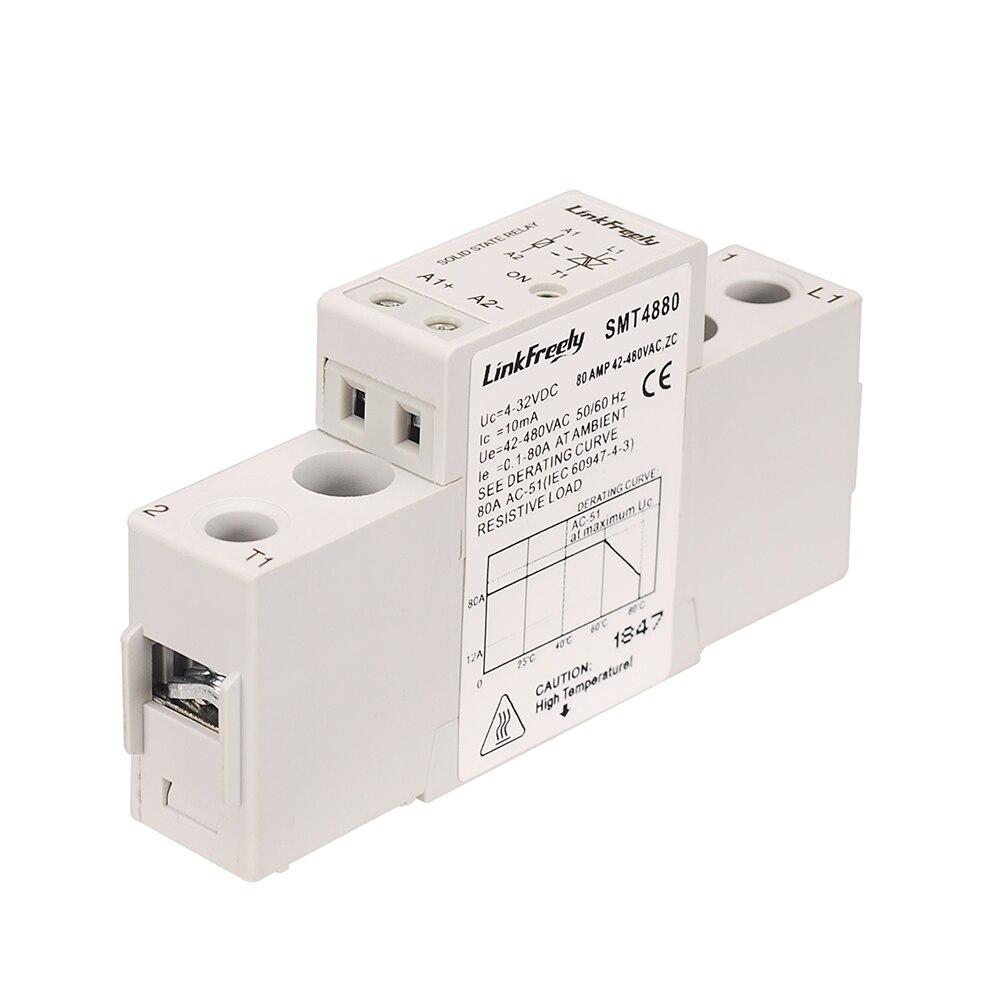 SMT4880 80A Mini semi-conducteur relais à semi-conducteurs 5 V 12 V 24VDC entrée sortie 42-480VAC tension SSR Module relais et carte DC AC