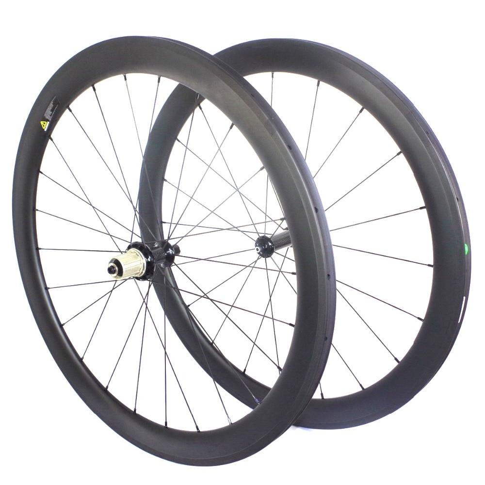 700c clincher UD carbon road bicycle wheelset 50mm racing 3K wheels 23mm wide 38mm 60mm tubular 25mm bike rim 88mm a271 R13 hub